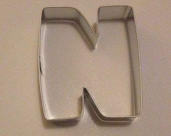 """3"""" Letter N Cookie Cutter"""