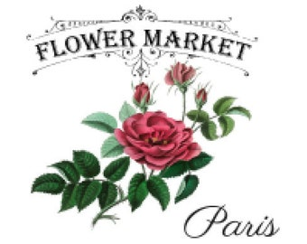 Vintage Image French Advertising Labels Roses Transfers Flower Market Decals FL523B