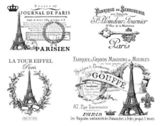 Vintage French Advertising Labels Furniture Transfers Waterslide Decals MIS583