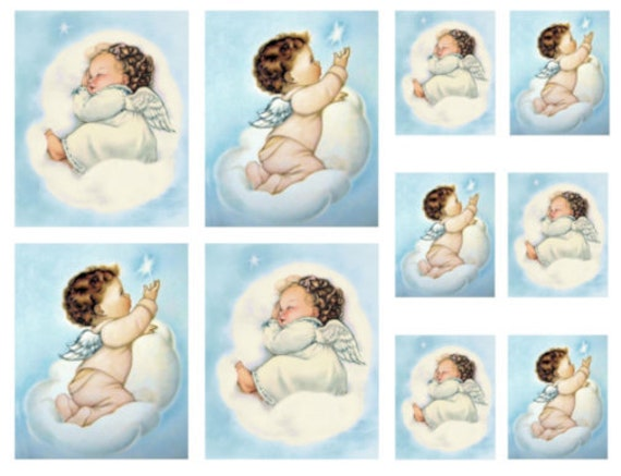 VinTaGe IMaGe BaBY LamB NuRSeRY ShaBby WaTerSLiDe DeCALs *SWeET*