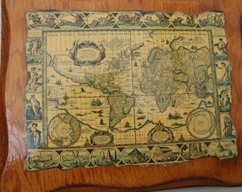 Decoupage Old World Maps c1970s