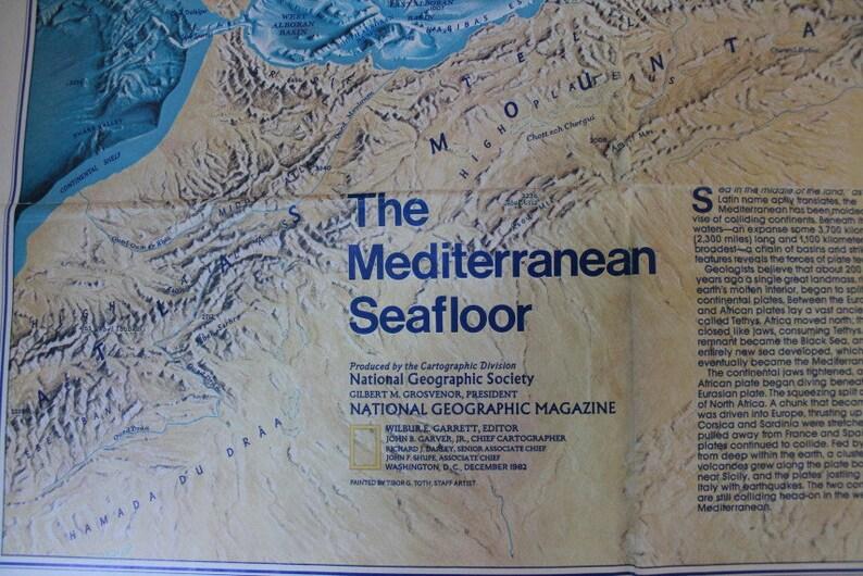 Mediterranean Seafloor Map 1982