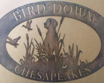 Peaceful Hunter Sign; Hunting Sign; Bird Dog; Cabin Sign