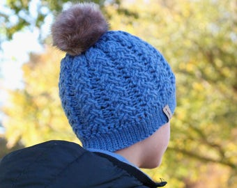 """Cool Crochet Pattern Cable Beanie PDF """"Cruise Cabled Beanie"""" Hat  PATTERN ONLY"""