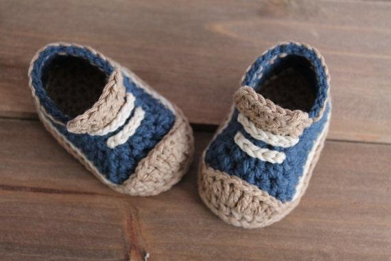 Cute Crochet Pattern For Boys Booties Crete Etsy