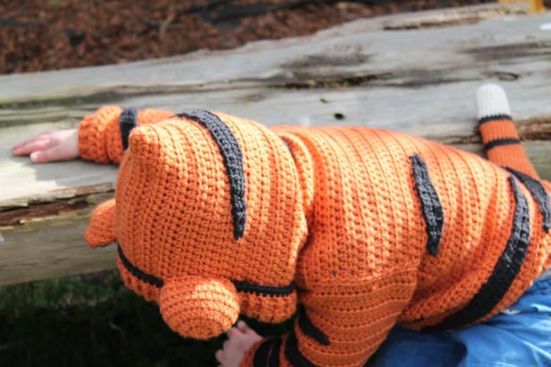 Sweater Pattern Tigga Jersey Tiger Sweater cute boys and girls crochet sweater CROCHET PATTERN Crochet Pattern