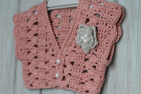 Crochet Pattern Girls Bolero Pattern Pearl Flower Etsy