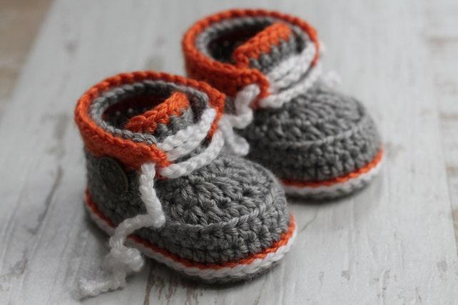 Crochet Pattern Baby Boys Modern Cool Booties Taika Etsy