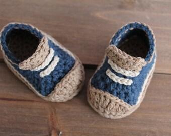 """Crochet Pattern Baby Boys Booties """"Crete"""" Sneaker - PATTERN ONLY"""