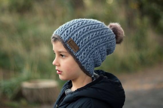 Crochet Pattern Cable Hat Crochet Pattern For Slouchy Boys Etsy