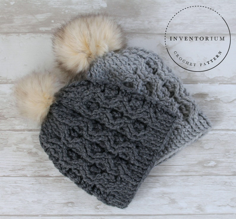 Crochet Pattern Cable Beanie Aston Cable Beanie Etsy