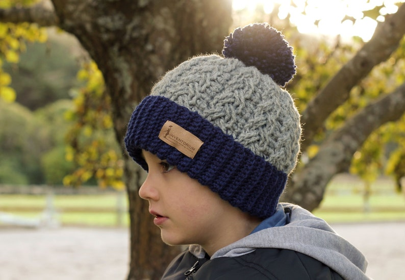 CROCHET PATTERN Carter Cable Beanie warm thick  e090a8f973