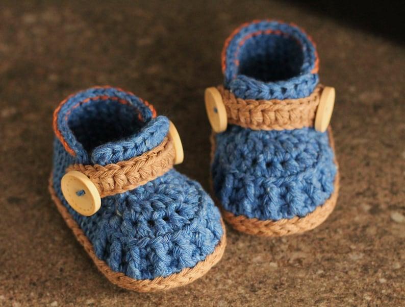 5587d17681f9a CROCHET PATTERN - Boys Crochet Shoes
