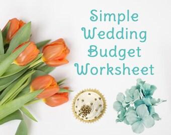 wedding planning worksheet by wedding categories etsy