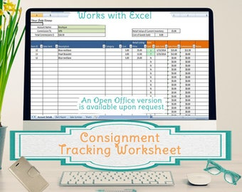Simple Consignment Tracking Worksheet, Calculates Your Sales Commissions