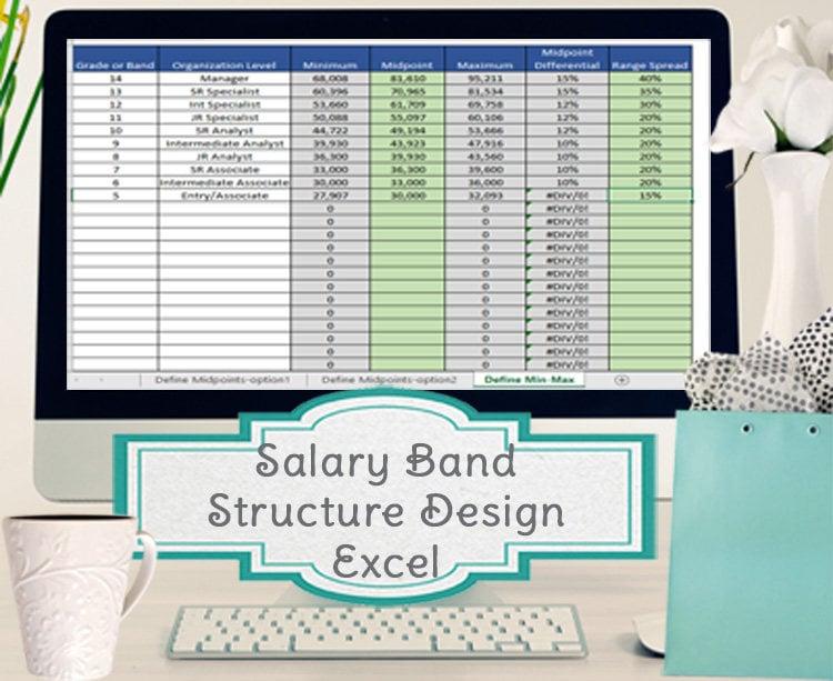 Gehalt Band Vorlage Gehalt Struktur Vorlage Excel | Etsy