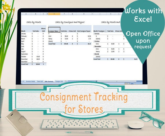 consignment tracking for stores inventory tracking etsy