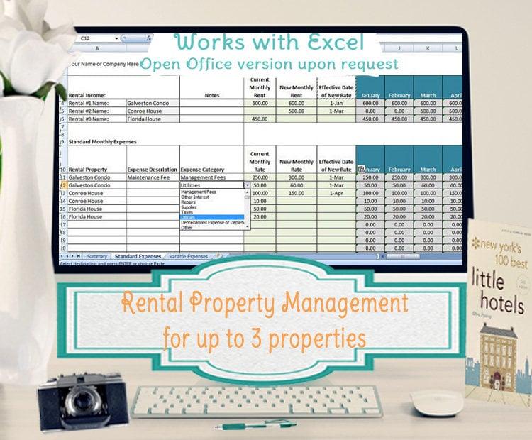 Vermietung Immobilien Management Vorlage lange Begriff mieten | Etsy