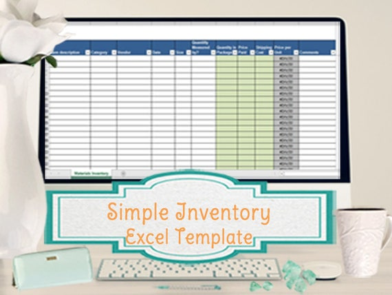 simple inventory worksheet vendor price comparison and etsy