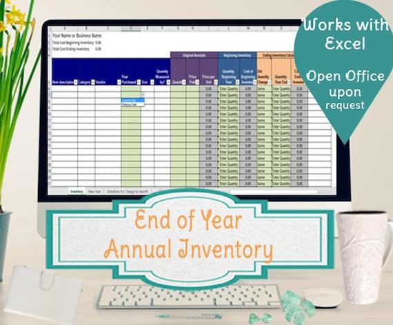 Jährliche Inventar-Tabelle Track beginnt und endet Inventar | Etsy