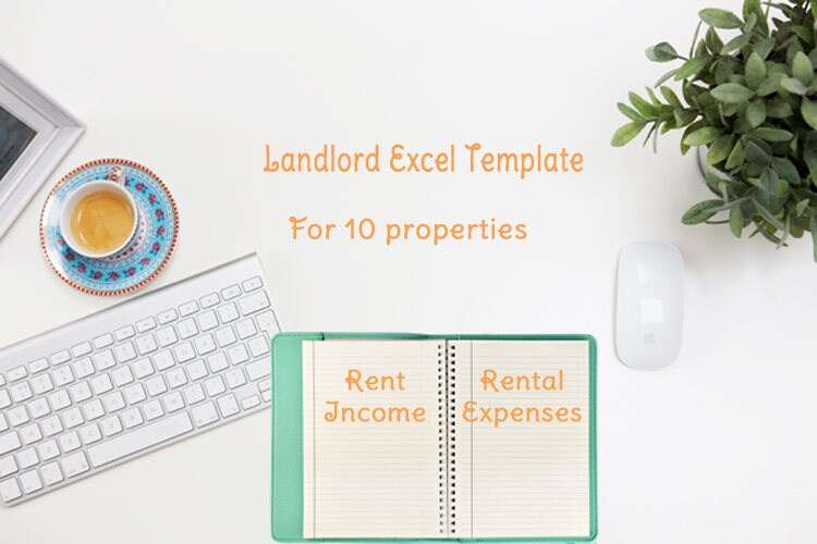 Landlords Rent And Expense Tracking Template 10 Properties Etsy
