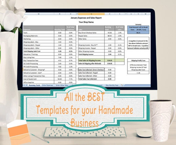All the BEST Templates for your Handmade Business- High Volume Inventory, Sales and Expenses Tracking, Pricing & COGS