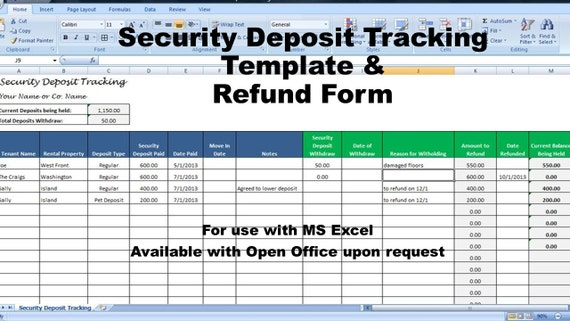 Rental deposit tracking form landlord tenant security deposit thecheapjerseys Image collections