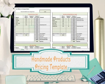 Price to Sell Your Handmade Creations, Excel Pricing Spreadsheet and Guide