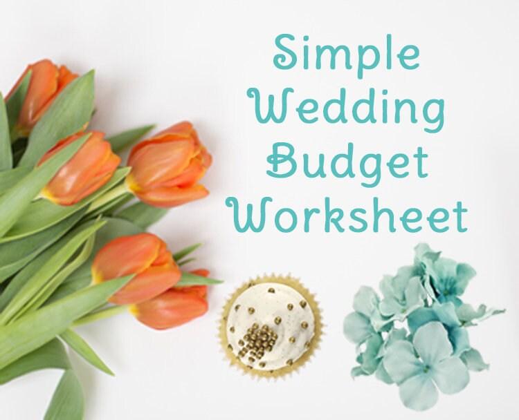 Einfache Hochzeit Budget-Arbeitsblatt druckbare und | Etsy
