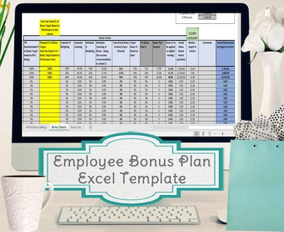 Mitarbeiter-Bonus-Excel-Vorlage Anreiz planen Berechnung