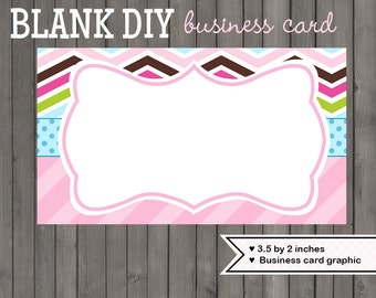 Business card blank etsy chevron business card design graphic diy blank template instant download printable crazy chevron 149 colourmoves