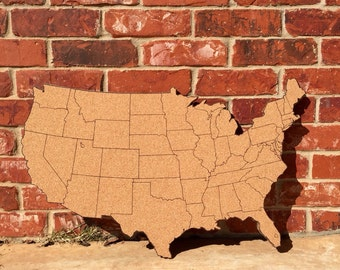 Medium United States Corkboard Map USA Cork Map Pin Board Gifts for Teachers Educational Classroom Map Office Travel Geography