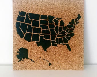 United States Corkboard Map USA Cork Map Pin Board Pushpin Map Gifts for Teachers Educational Classroom Map Office Travel