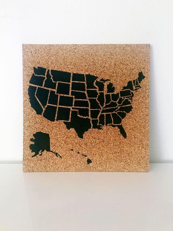 United States Corkboard Map USA Cork Map Pin Board Pushpin Map Gifts on technology usa map, 5th grade usa map, montessori usa map, military usa map, 2nd grade usa map, game of thrones usa map, teaching usa map, sports usa map,