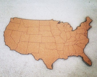 Large United States Corkboard Map USA Cork Map Pin Board Gifts for Teachers Educational Classroom Map Office Travel Geography
