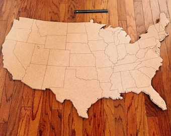 Extra Large United States Corkboard Map USA Cork Map Pin Board Gifts for Teachers Educational Classroom Map Office Travel Geography