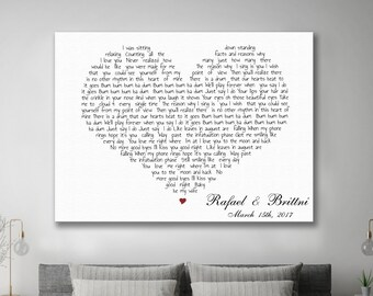 Framed Song Lyrics Etsy