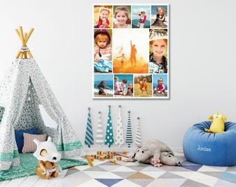 Photo collage print, photo collage canvas, custom photo collage, personal photo collage, photo collage art, wall art collage, canvas collage