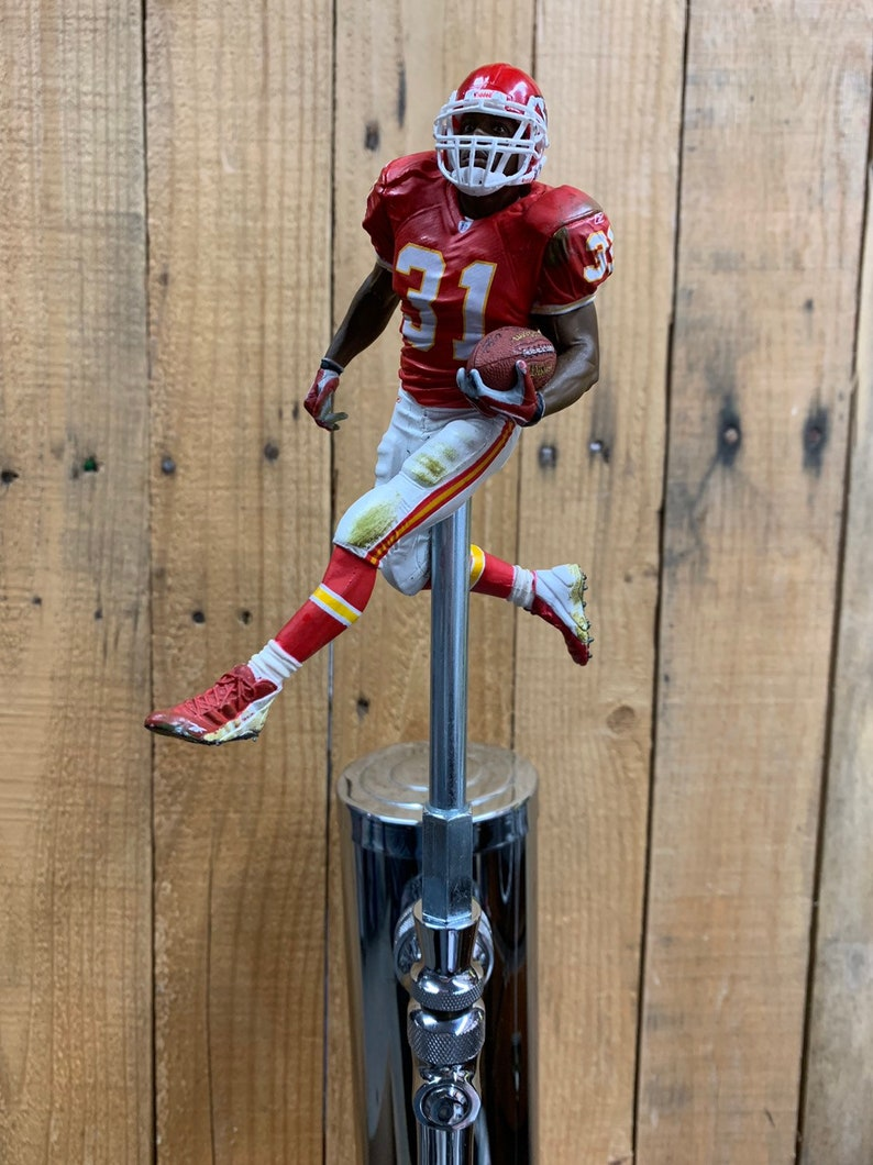 1efb97b9a08 Kansas City Chiefs Tap Handle for Beer Kegerator Priest Holmes | Etsy