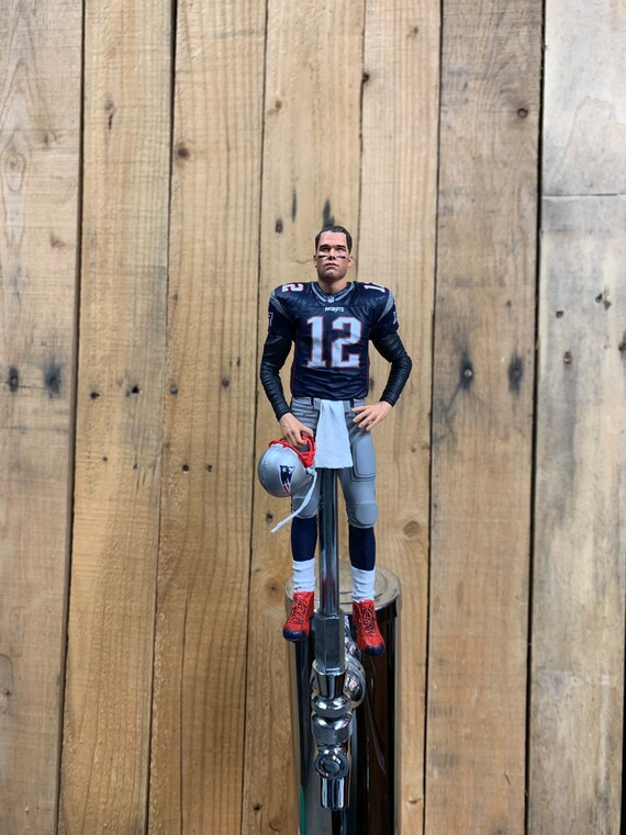 best service 8bc40 ce2cc New England Patriots Tap Handle for Beer Kegerator Tom Brady NFL Football  Blue Jersey