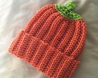 Crochet Pumpkin Beanies for babies and toddlers!