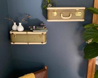 Antique Suitcase Shelves