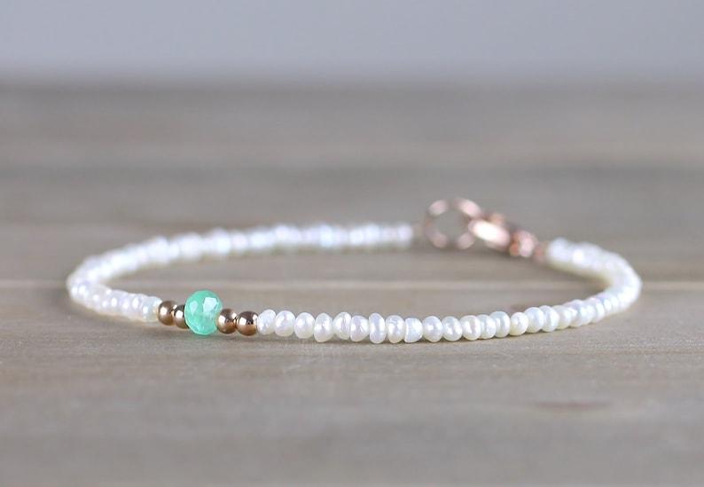 Bracelet Avec Des Remplir ÉmeraudeBijoux Douce Or Skinny Ou Perles Cristal Délicat D'eau Émeraudes ColombiennesArgent De Blanc En UzMSpV