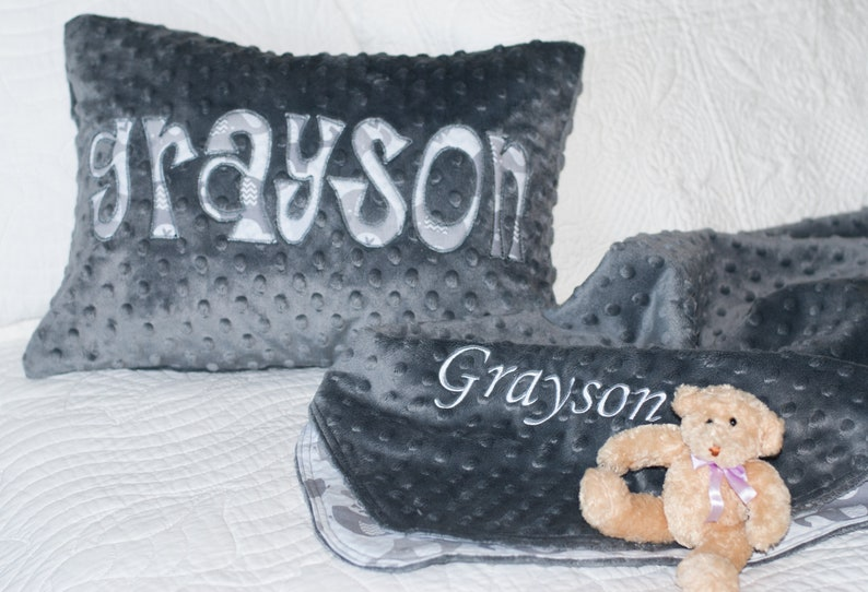 6b797a76f Personalized Baby Blanket Baby Shower Gift Set Embroidered | Etsy
