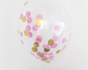 meg-made Confetti filled Balloons - Blushing (10)