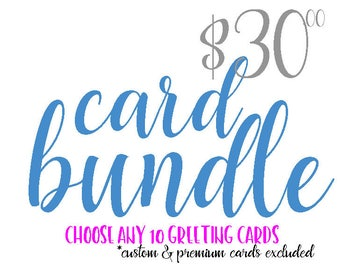 5 Card Discount SALE Buy 4 Cards Get One FREE Bulk