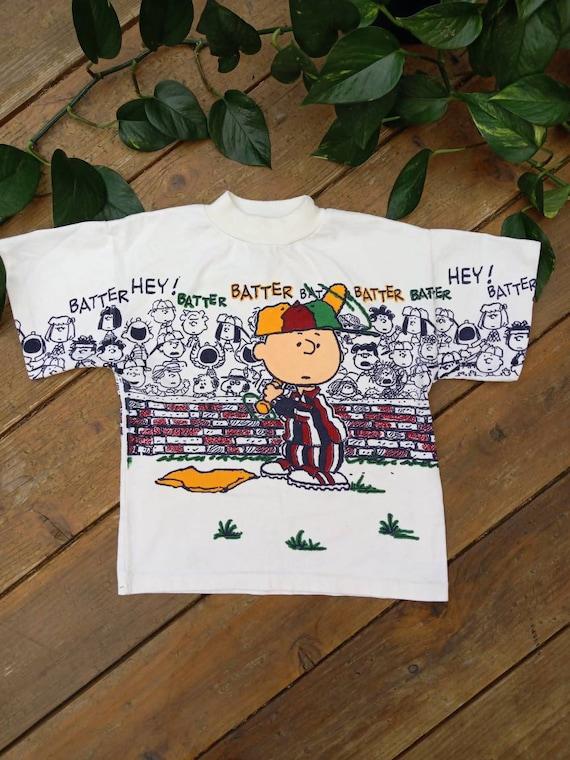 Vintage Charlie brown 80s tshirt Peanuts snoopy ba