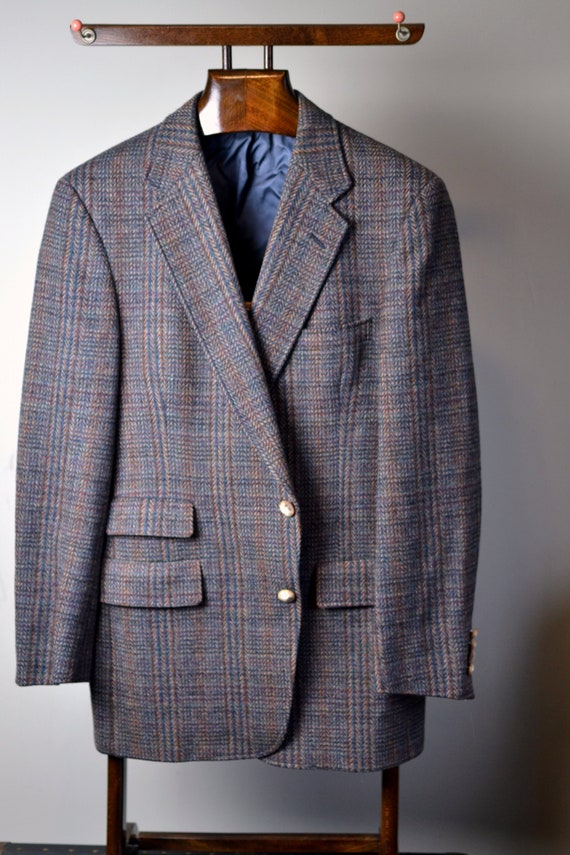Vintage Austin Reed Brown W Multicolor Check Herringbone Etsy