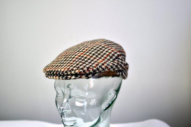 Vintage DUNN   Co. The RUTLAND County Cap Harris Tweed Flat Cap ... a232568871fa