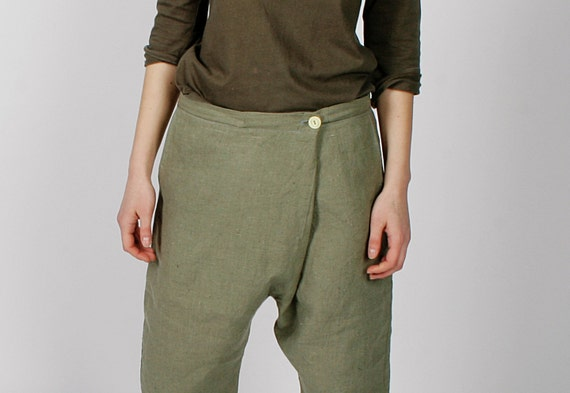 Linen Handmade Pants Elegant Women Boho 42 40 Relaxed for sizes 38 36 OwASgw